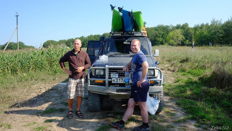 Всего за 11 часов мы добрались из Владивостока до Тернея. Но там мы встали на ночевую возле речки. Нам же нужно было дождаться наших друзей СаняЛеха.