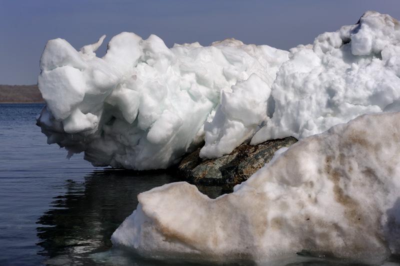 Тюленей сегодня тоже не видно, остались лишь их ледяные скульптуры.