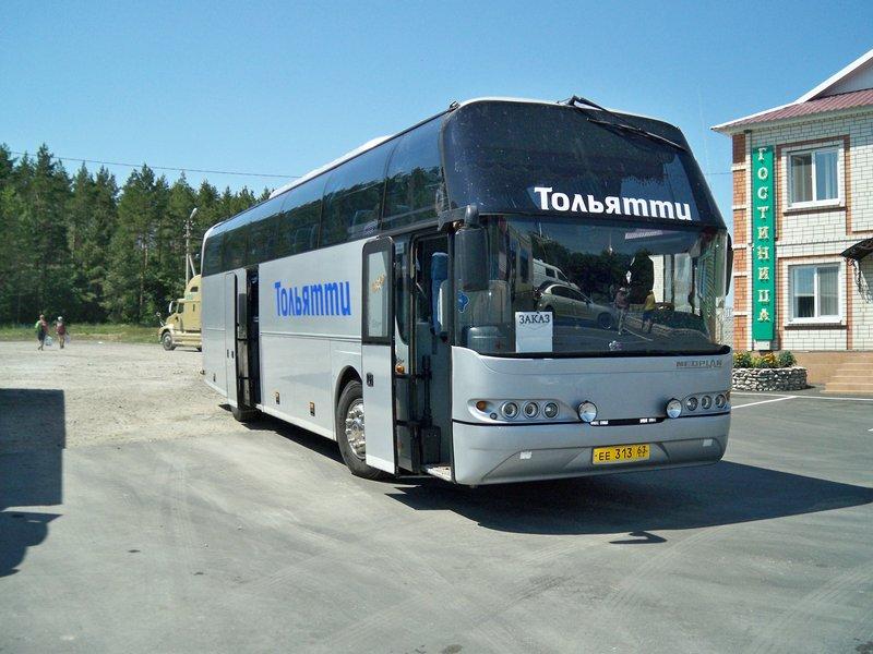 Вот на этом автобусе мы проехали туда и обратно. 105 000 руб от Тольятти до Крыма...