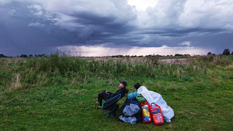 Нет, дождь прошел мимо нас. И в общем, всё у нас сложилось удачно в этом небольшом походе.