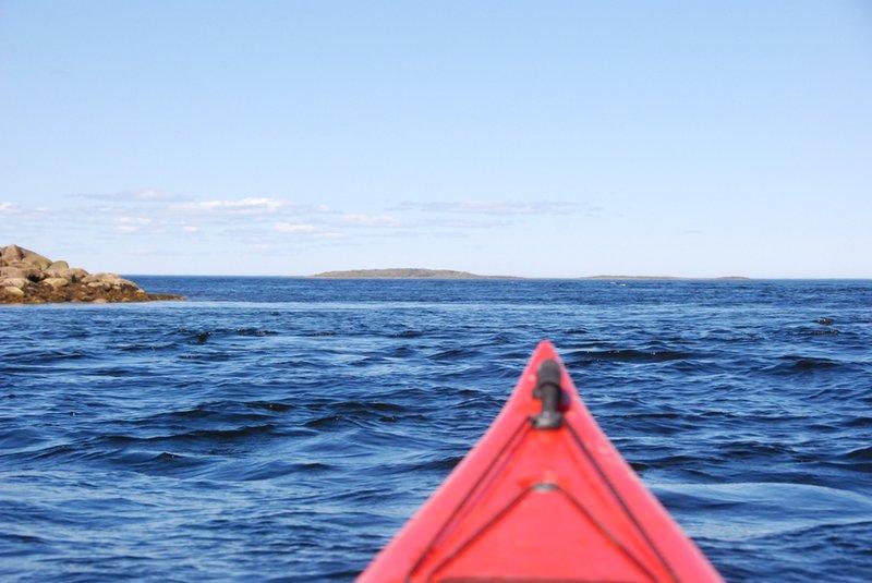 14:34. Почти приплыли. Перед нами Южный Ромбак.