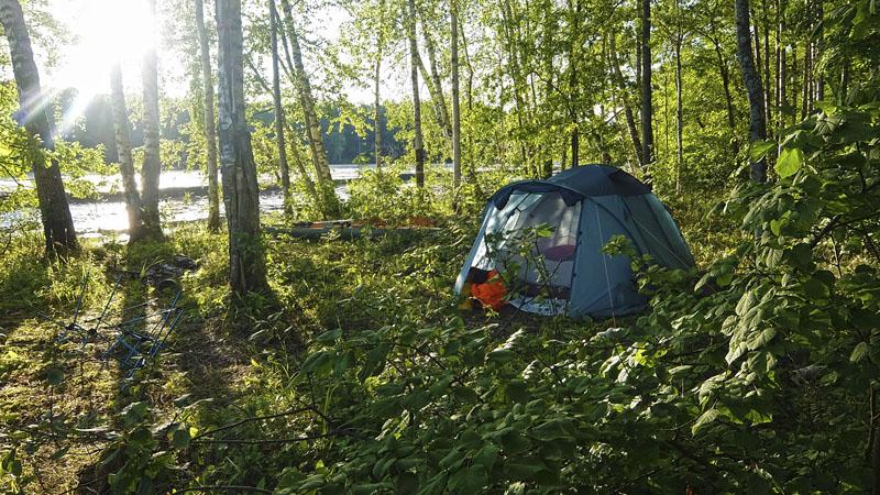 Последнее наше утро на Вопше в этом походе.