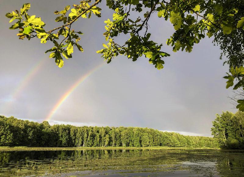 Прощальная двойная радуга от уходящей грозы – каждому из нас по радуге. Весьма благодарствуем!