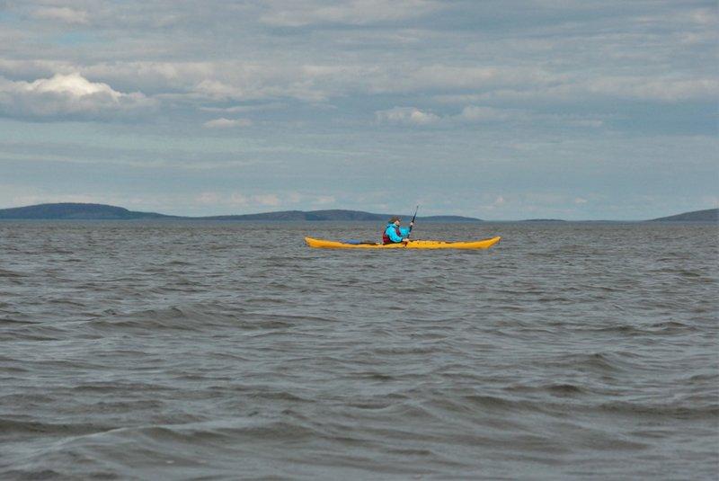 Белое море, вокруг Кемских шхер на морских каяках. 19-28 июня 2016, 130 км.