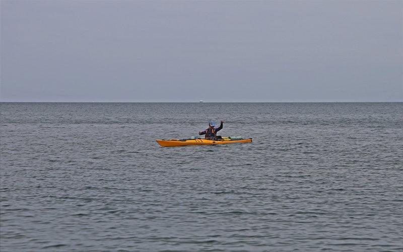 Веселый рыболовный поход на морских каяках на о. Попова
