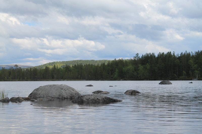 Озеро Кильдинское, прогулка и тестирование каяка