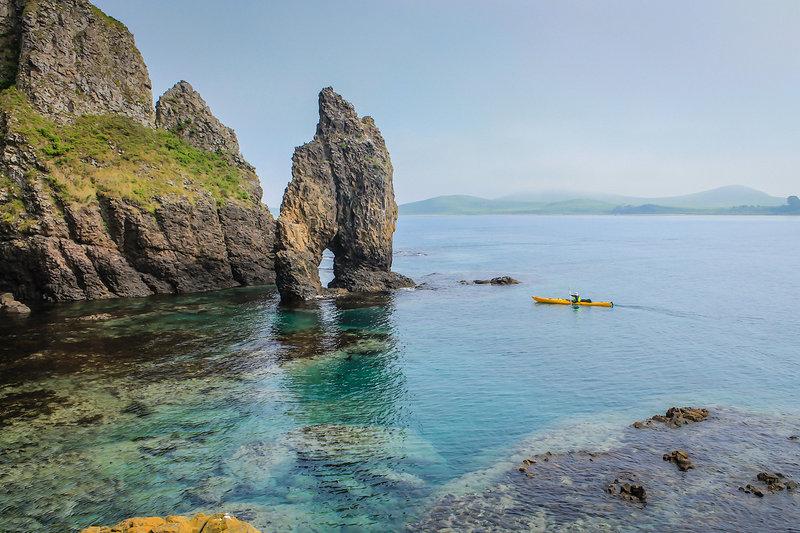 На морских каяках на острова Антипенко, Сибирякова, Стенина