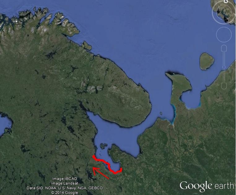 Белое море на морских каяках, Онежский залив по маршруту Онега – Беломорск, 264 км, 21 июня - 6 июля 2014