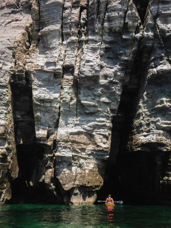 Скалы ближе к мысу Тобизина.