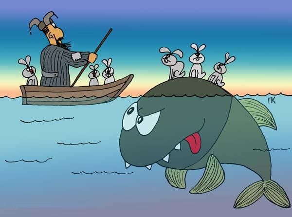 Явное произведение каякеров с Дальнего Востока или Камчатки – только у них есть касатки! Соответственно и видение вопроса. Хотя, как по мне – клевета на зайцев!