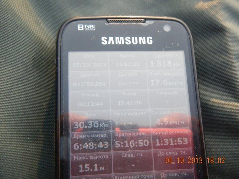 К 18:00 пройдено около 30 км. Координаты точки: N42°57' E132°01'. Буя пока не встретил. Берег назначения тоже не появлялся. Иногда казалось, что вижу какие-то очертания, но к этому времени глаза устали постоянно всматриваться вдаль, и я больше не старался увидеть берег.