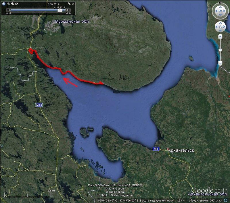 Белое море. Кузомень – Кандалакша на морских каяках. 16 августа – 29 августа 2015. 343 км. (часть 1)