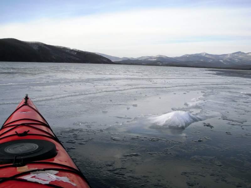 Морской каякинг зимой