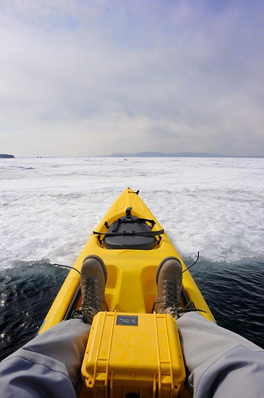 Ледовые поля, всю неделю пасшиеся где-то далеко в открытой части залива, к выходным вернулись и плотными табунами окружили акваторию вокруг маяка. Пробиться через Амурский залив не удалось.