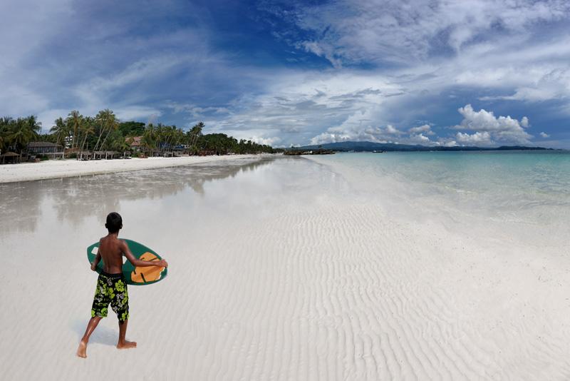 Песок на Боракае действительно на удивление белый, мелкий, похожий на гипс или тальк. На фоне других филиппинских островов, здешние пляжи отличаются исключительной чистотой.