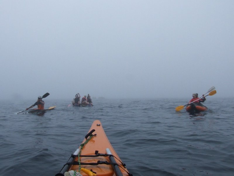 Я сопровождаю в тумане караван судов