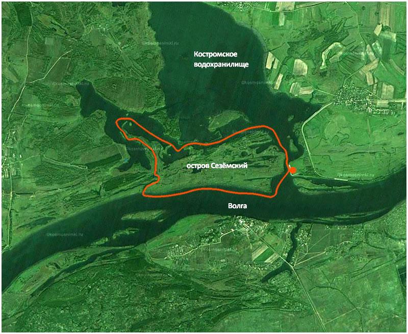 Крутанулись вокруг острова Сезёмского против часовой стрелки. Саметская промоина–Костромское водохранилище–река Сезёма–река Волга. С ночёвкой на острове.