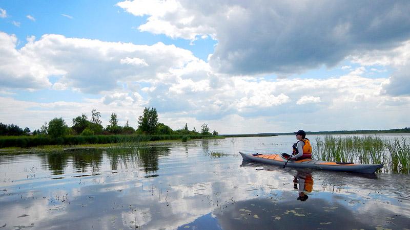 """Если честно, мы не ожидали, что природа Костромского водохранилища произведет нас нас такое впечатление. Нетронутая, дикая, разнообразная. """"Восхищение и трепет"""" - так назовем этот кадр."""