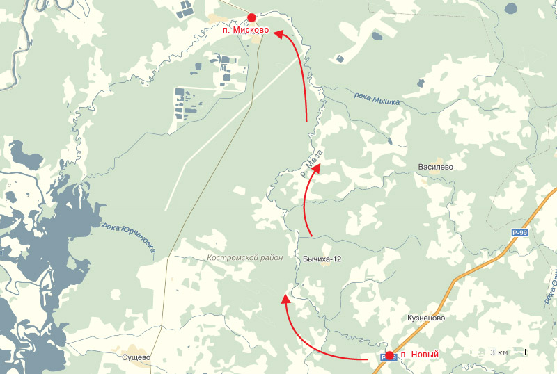 Схема нашего маршрута.