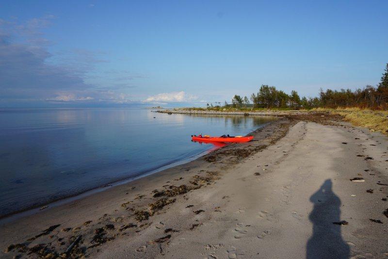 Одиночный поход по белому морю от деревни Кереть