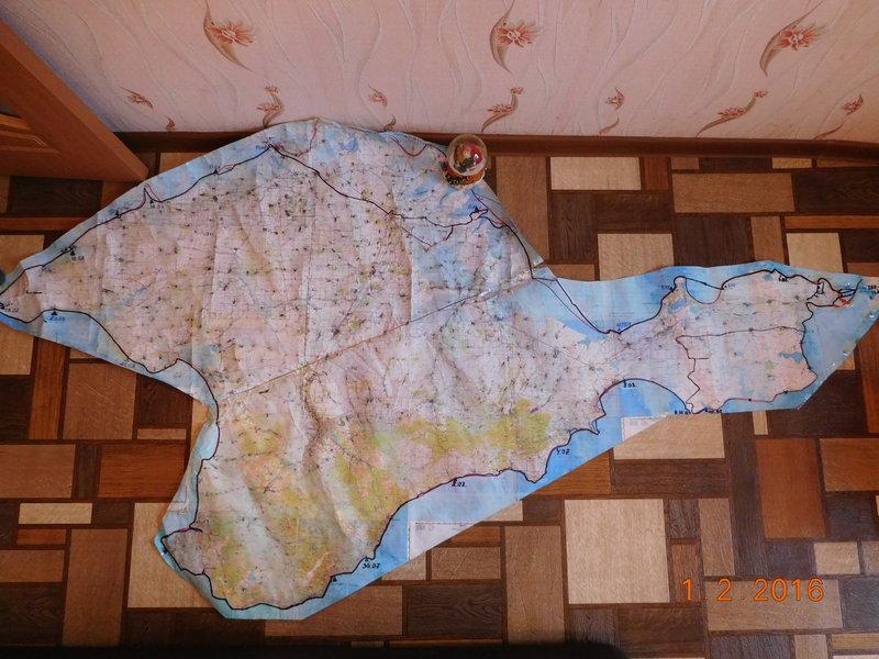 Карта прошедшего маршрута