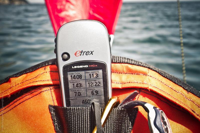 GPS доставал сугубо ради замера скорости с парусом.