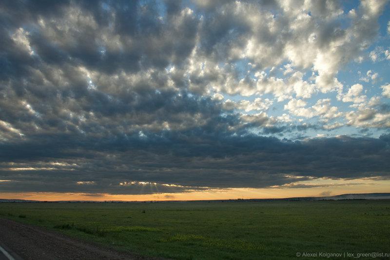 Утро по дороге из Иркутска