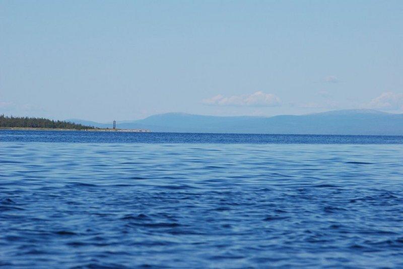 По-прежнему продолжают попадаться медузы. Удивляет вода. Если утром у берега она у меня была кристально прозрачная, то сейчас вдали от берега она насыщена какими-то частичками.