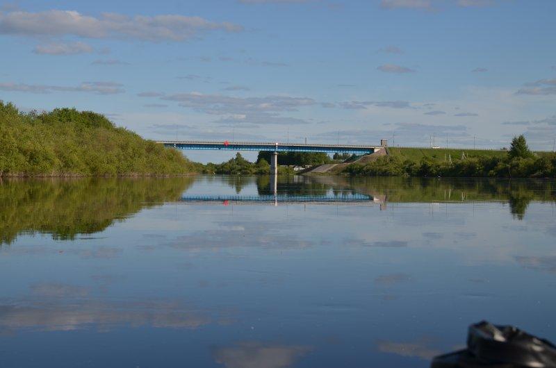"""Мост на автодороге М-8 """"Холмогоры"""" Москва - Архангельск."""