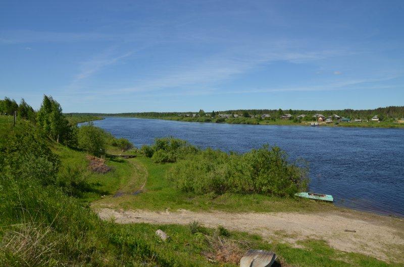 Вид на деревню Черепаниха.