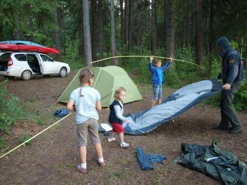 Ставим лагерь на Валдае.