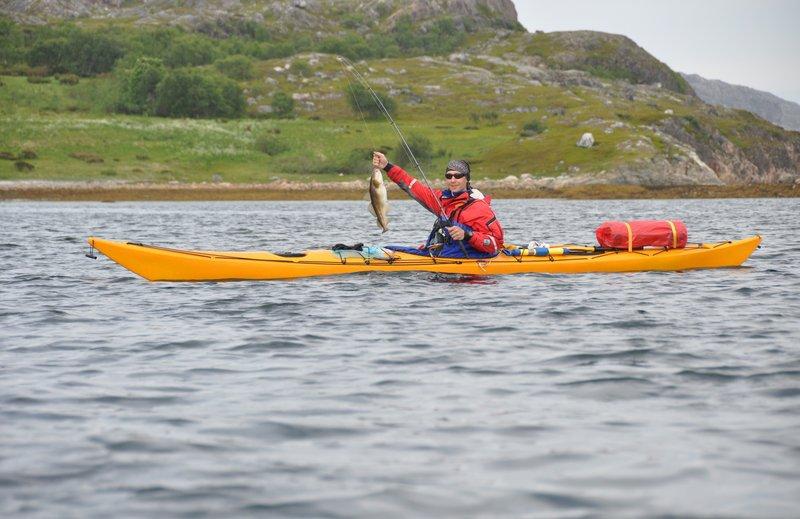 Рыбалка на морских каяках на севере Норвегии
