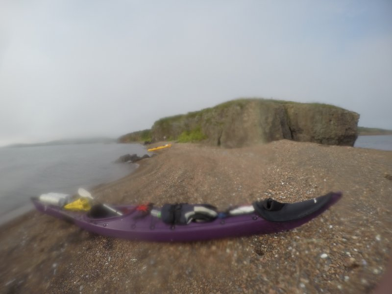 Подошли к проливу между островами Попова и Рейнеке