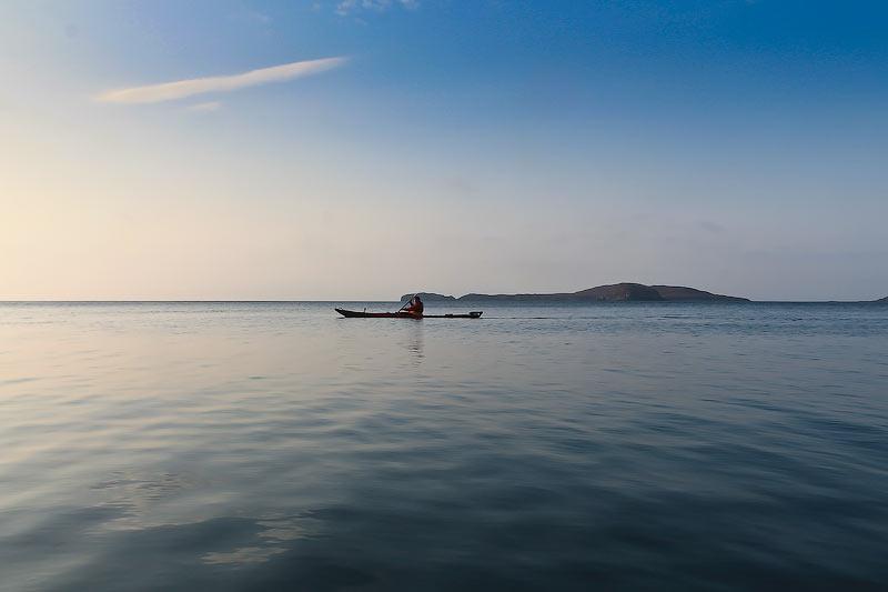 Осеннее путешествие на морских каяках по островам