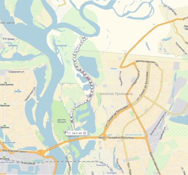 Карта первого участка