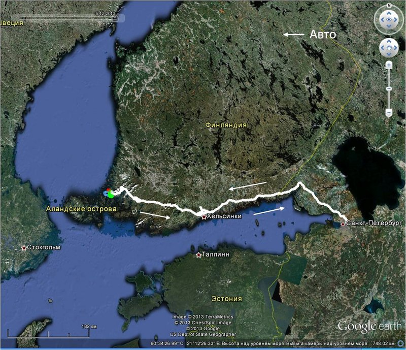 Балтийское море на каяках (Ботнический залив) в районе Турку. 9 - 11 мая 2013